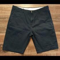 Volcom Mens Frickin Chino Shorts Dark Blue Size 38 Photo