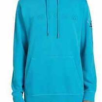 Volcom Mens Hoodie Blue Size Small S Washed Embroidered Logo Pullover 70 071 Photo