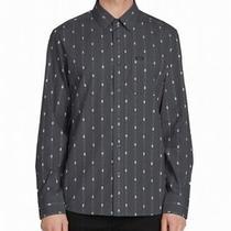 Volcom Mens Shirt Gray Size 2xl Modern Fit Printed Pocket Button Up 65 338 Photo