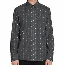 Volcom Mens Shirt Gray Size 2xl Modern Fit Printed Pocket Button Up 65 128 Photo