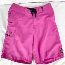 Volcom Mens Size 30 Pink Swim Trunks Board Shorts Summer Pool Bright  Photo