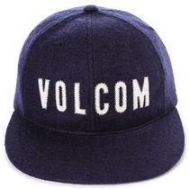 Volcom New Mens Cap Hat Adjustable Fit Snapback 6 Panel Puffed Blue Photo