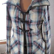 Volcom Plaid Jacket Women's Coat Hook Loop Grunge Photo