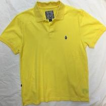 Volcom Polo Shirt Size Large Yellow Skate Surf New Rvca Kr3w Sb Dgk Element Photo