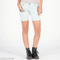 Volcom Savage Skinny Bermuda Short Womens Size 5 Jean Shorts Nwt New Mr242 Photo