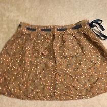 Volcom Skirt Silk Brown Polka Dots Multi Colour Side Zipper Women's Size 5 Small Photo