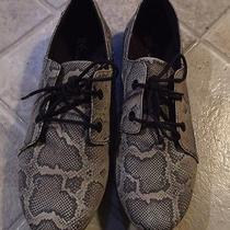 Volcom Snakeskin Tie Flats Slip on Womens 7 Eu 37.5 Photo