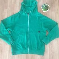 Volcom Stealth Basic Zip Green Hoodie Mens Size Med Photo