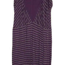 Volcom Sundress Purple With Gray Stripes Size Large Photo
