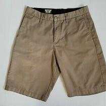 Volcom Vmonty Chino Shorts Men's 31 W Beige Tan Frickin Modern Fit Photo