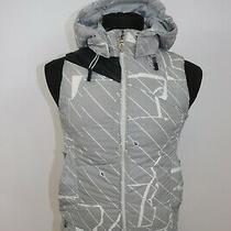 Volcom Women's Vapro Vest 600mm Duck Down Dun Duvet Hooded Jacket Sz Xs Photo