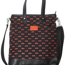 Volcom Womens 'Quite a View' Tote Bag Black (Bike Print Handbag) Photo