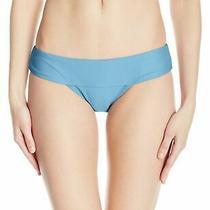 Volcom Womens Swimwear Blue Size Medium M Simply Modest Bikini Bottom 36- 728 Photo