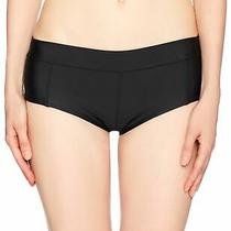 Volcom Womens Swimwear Solid Black Size Small S Simply Boy Cut Bottom 45 783 Photo