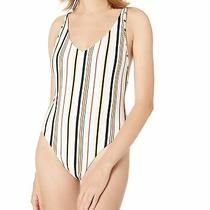 Volcom Womens Swimwear White Size Large L One Piece Ckeeky Coverage 79 756 Photo