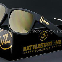 Von Zipper Battlestations Elmore Sunglasses Black  Gold Chrome Smrfaelm-Bkd Photo