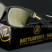Von Zipper Battlestations Elmore Sunglasses Olive  Gold Chrome Smrfaelm-Olc Photo