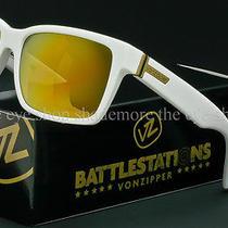 Von Zipper Battlestations Elmore Sunglasses White  Gold Chrome Smrfaelm-Whg Photo