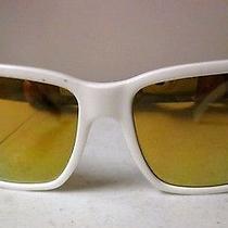 Von Zipper Battlestations Elmore White Sunglasses Gold Chrome Lenses Photo