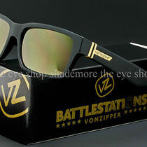 Von Zipper Battlestations Fulton  Sunglasses Black  Gold Chrome Smrf7ful-Bkd Photo