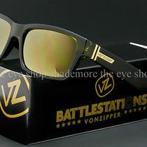 Von Zipper Battlestations Fulton Sunglasses Olive  Gold Chrome Smrf7ful-Olc Photo