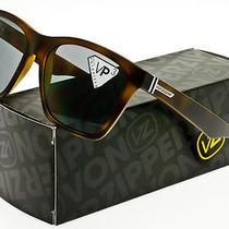 Von Zipper Booker Polarized Sunglasses Tortoise Satin Grey Polar Smpf3boo-Tsp Photo
