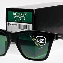 Von Zipper Booker Sunglasses Black Frame  Vintage Grey Lens Smrf3boo-Bkv Photo
