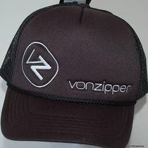 Von Zipper Cap New Unisex Mens Moby Classic Trucker Black White Surf 1 Size Surf Photo
