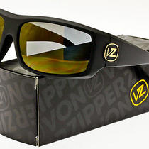 Von Zipper Clutch Polarized Sunglasses   Black Satin / Gold Glo Poly Polar Photo