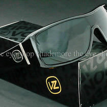 Von Zipper Comsat Sunglasses Gloss Black  Grey Lens New Authentic Smsfjcom-Bkg Photo