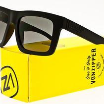 Von Zipper Donmega Sunglasses Black Satin Frame / Grey Lens Smrfadon-Bks Photo