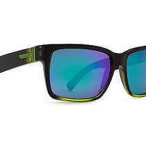 Von Zipper Elmore Mindglo Sunglasses Black Lime  Quasar Glo Smrfaelm-Fbl Photo