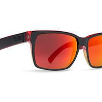 Von Zipper Elmore Sunglasses Vibrations Black Satin / Red Lunar Glo Smrfaelm-Vil Photo