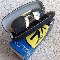 Von Zipper Fernstein Gold Frame Aviator Sunglasses Unisex Hard Case in Box Photo