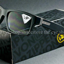 Von Zipper Fulton Polarized Sunglasses Gloss Black Grey Poly Polar Smpfmful-Bpp Photo