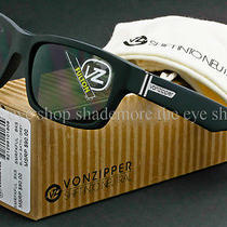 Von Zipper Fulton Sunglasses Black Satin  Grey Shift Into Neutral Smrf7ful-Bks Photo