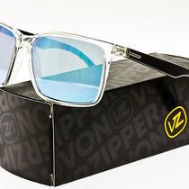 Von Zipper Lesmore Sunglasses Crystal Black / Sky Blue Chrome Lens Smrf5les-Cyy Photo