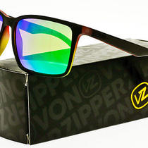 Von Zipper Lesmore Sunglasses Vibrations Satin Black / Quasar Green Chrome Photo
