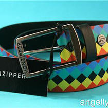 Von Zipper Mens Boys Pu Fluro Belt Enamel Removable Buckle One Size 110cm  New Photo