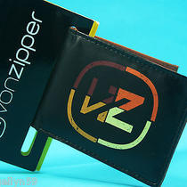 Von Zipper Mens Boys Wallet Black Mini Small Pu Tri Fold New in Pack Photo