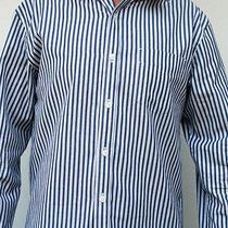 Von Zipper Mens Casual Blue White Dress Shirt Long Sleeve Size Med New Rrp 139 Photo
