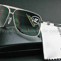 Von Zipper Metal Stache Sunglasses Silver Chrome Frame  Grey Lens Smwfmmst-Sgy Photo