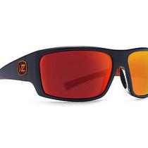 Von Zipper Suplex Sunglasses Black-Orange Stripe / Lunar Red Chrome Smsftsup-Bzl Photo