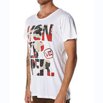 Von Zipper Tee White Small Double the Fun Camo Photo