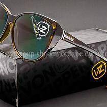Von Zipper Up-Do Sunglasses Brown Tortoise  Vintage Grey Lens Sjjf1upd-Tor Photo