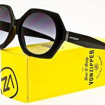 Von Zipper Womens Buelah Sunglasses Black Satin Frame / Grey Blue Gradient Lens Photo