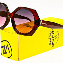 Von Zipper Womens Buelah Sunglasses Ruby Translucent / Grey Rose Gradient Photo