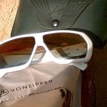 Vonzipper Lucre Collection White Large Retro Sunglasses  Photo