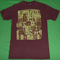 Vonzipper T Shirt Mens S Solid Brown 100% Cotton Short Sleeve Top Graphic Tee  Photo