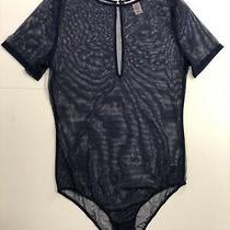 Vs Victoria's Secret Bride Lingerie Sheer Top Mesh Embroider Teddy Bodysuit Blue Photo